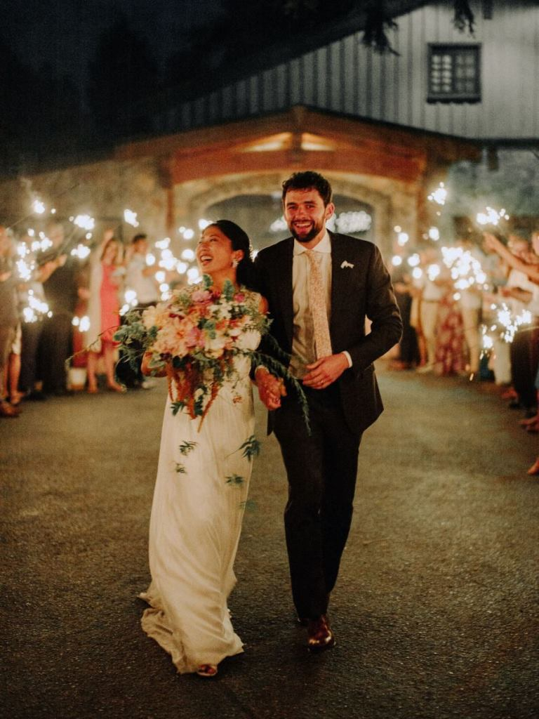 What a gorgeous and cozy wedding filled with blooms