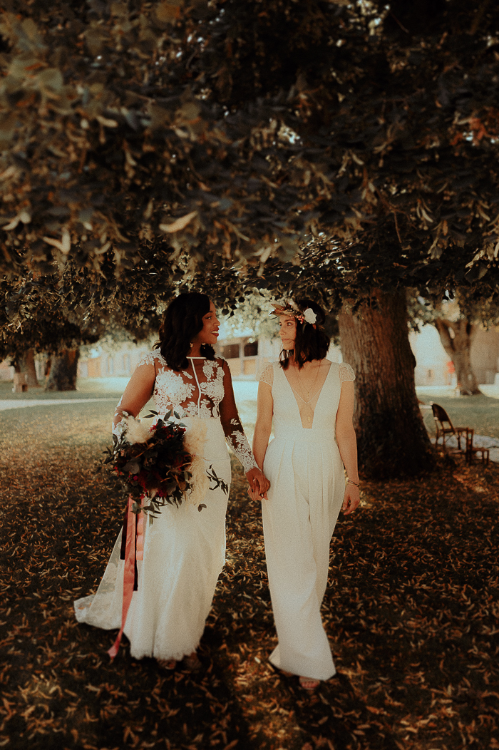 Same Sex Kinfolk-Inspired Wedding With Boho Decor