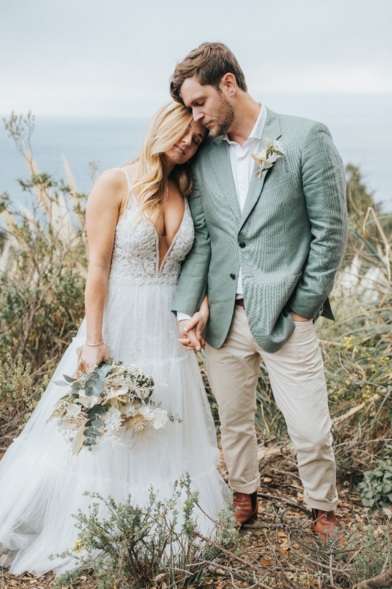 This couple went for a relaxed romantic wedding in Big Sur creating their own decor and finding their own perfect spot