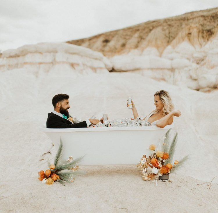 White Claw Wedding Shoot In A Desert