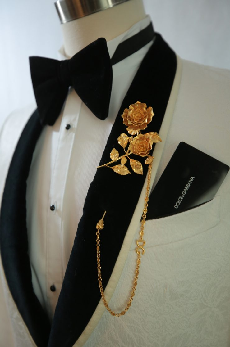The grooms changed three outfits during the wedding, they were all very luxurious