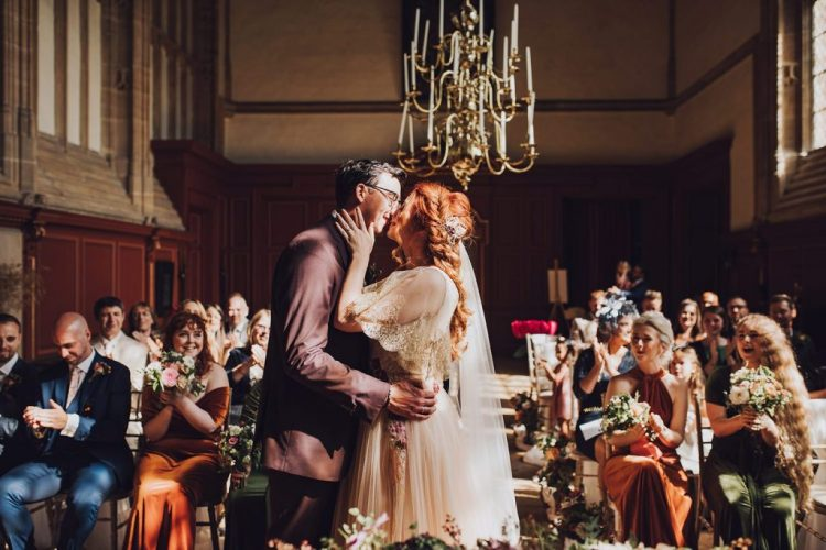 The ceremony took place in the abbey, it was unplugged and romantic