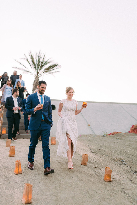 Everyone enjoyed refreshing cocktails after the ceremony, which is essential in tropical locations