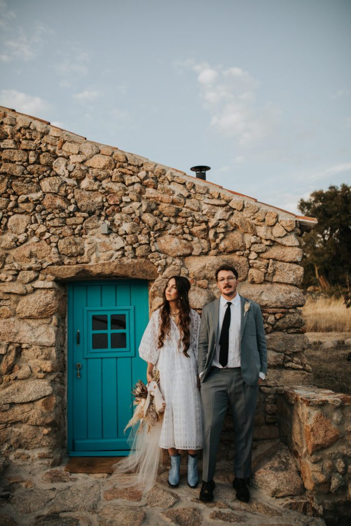 The couple really enjoyed the aesthetics of the rural Portuguese venue