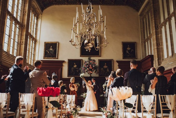 The vintage setting of the abbey was perfect for the ceremony