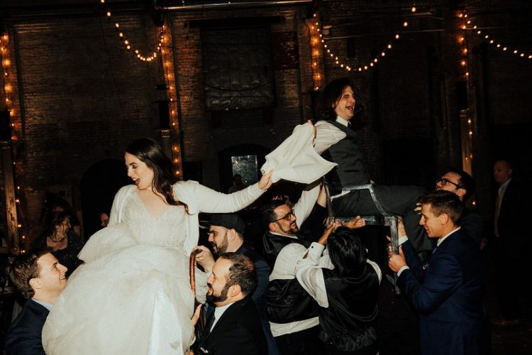 Some Jewish traditions were used at the wedding