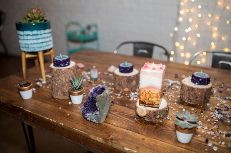 These crystals and crystal candles pair up amazingly