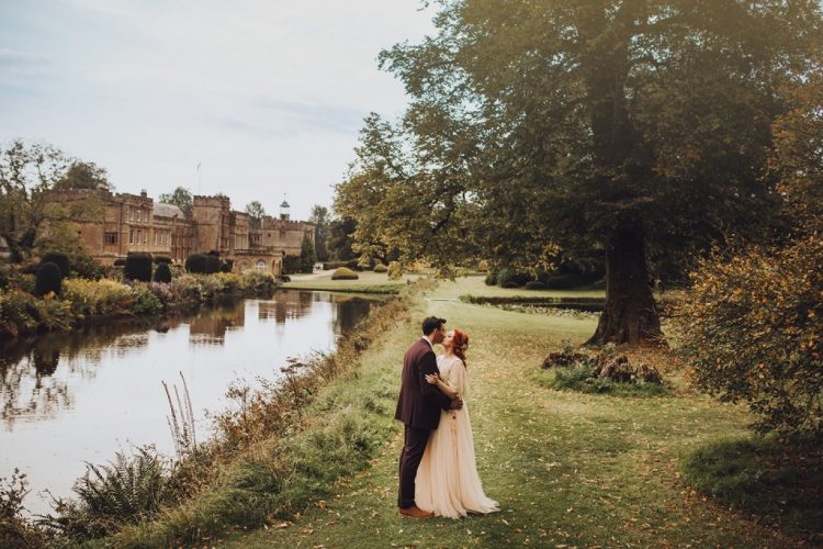 What a romantic and beautiful fall wedding at the abbey