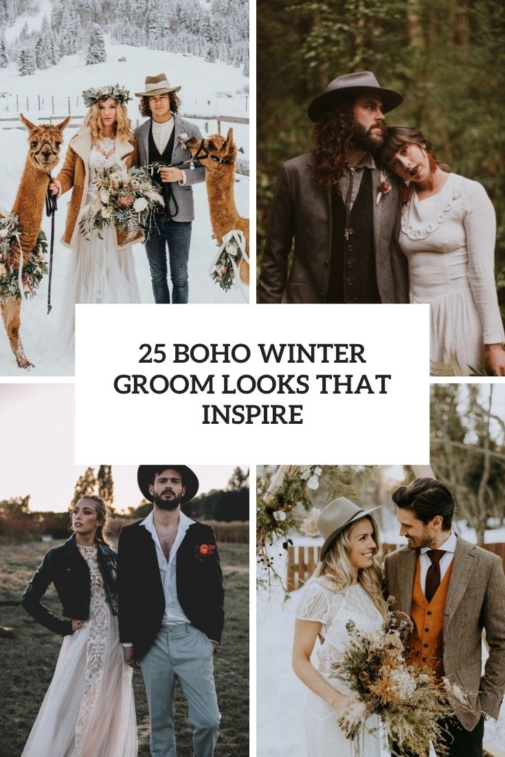 25 Boho Winter Groom Looks That Inspire