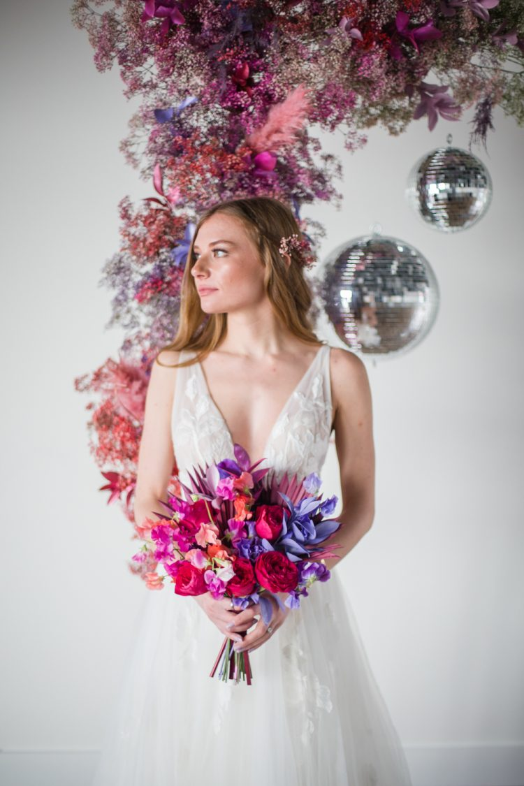 Playful Pink And Purple Wedding Shoot