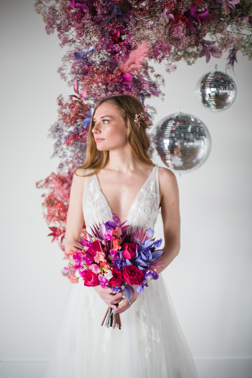 This bright wedding shoot was created to inspire couple to rock bright colors they love and go totally 'them' at the wedding