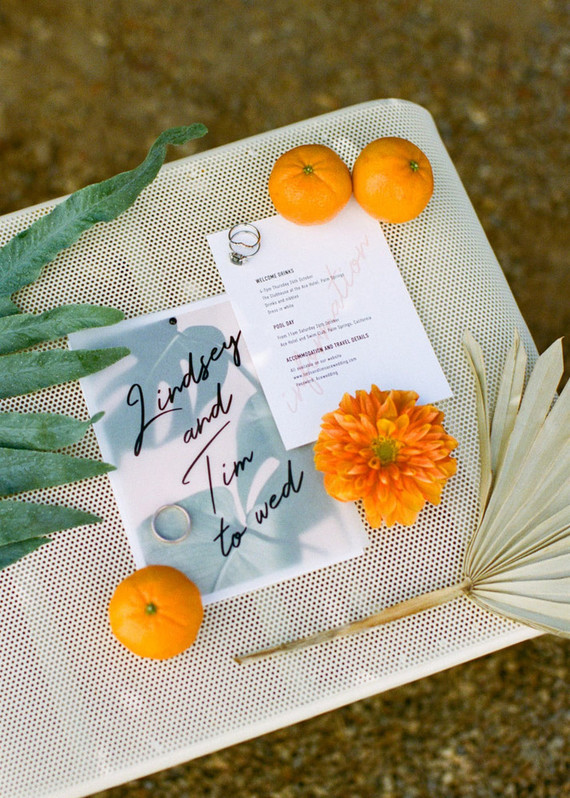 This colorful and fun Palm Springs wedding was done with timeless elegance and glam