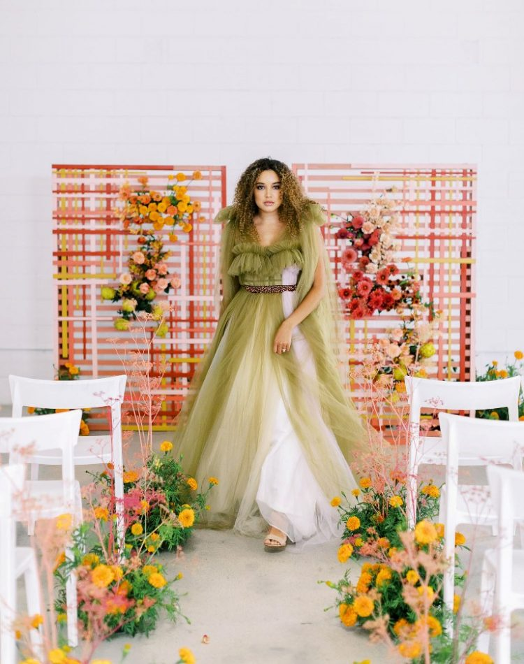Modern Love Wedding Shoot With Impact Color Blocking