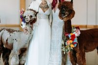 01 This vibrant wedding shoot was inspried by Hispanic culture and bold Gothic-like bridal looks