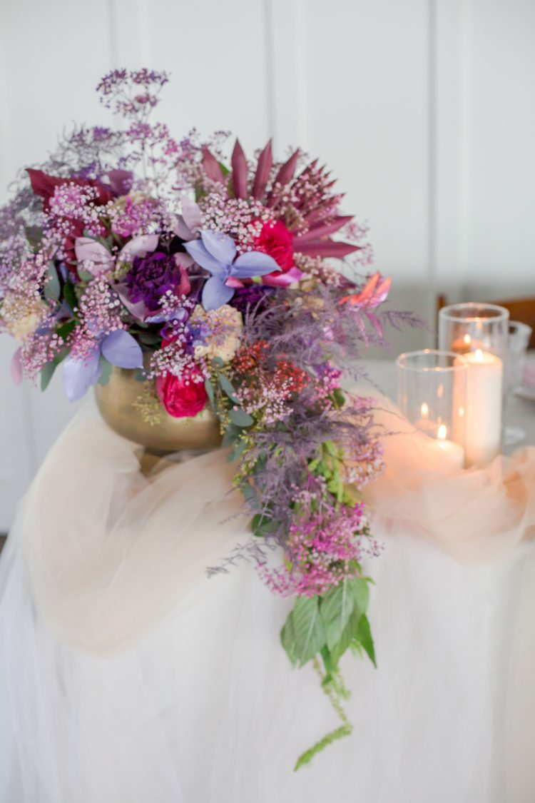 bold blooms looks great in a wedding centerpiece