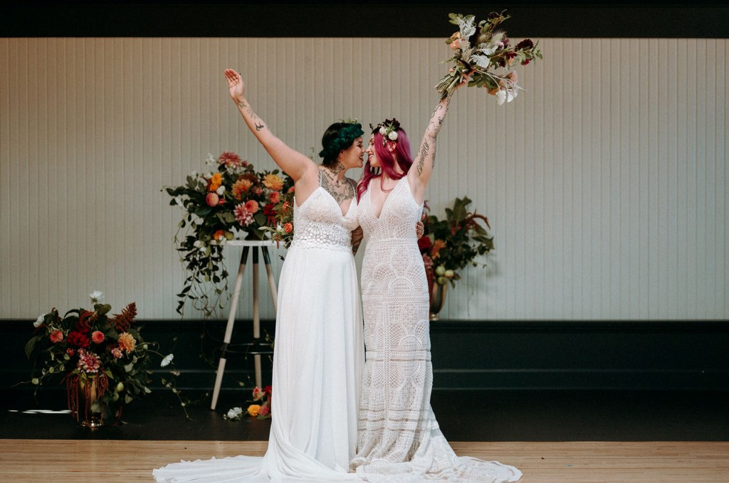 They served a very nice and bold wedding backdrop or altar for the brides