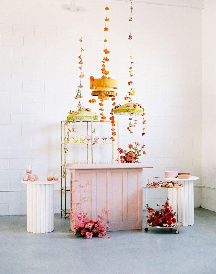 an adorable wedding bar