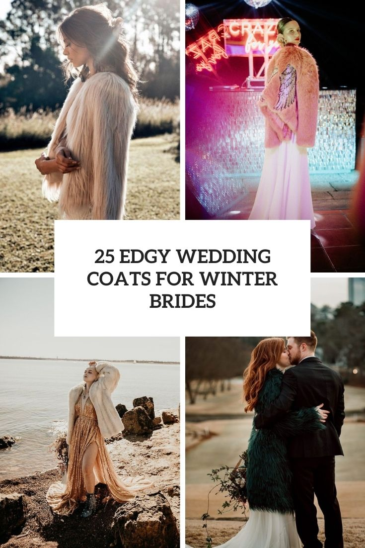 edgy wedding coats for winter brides cover