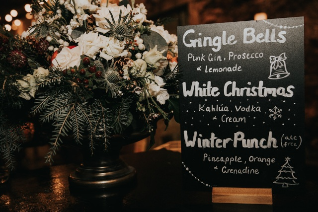 Bride and groom thought over even personalized wedding cocktails
