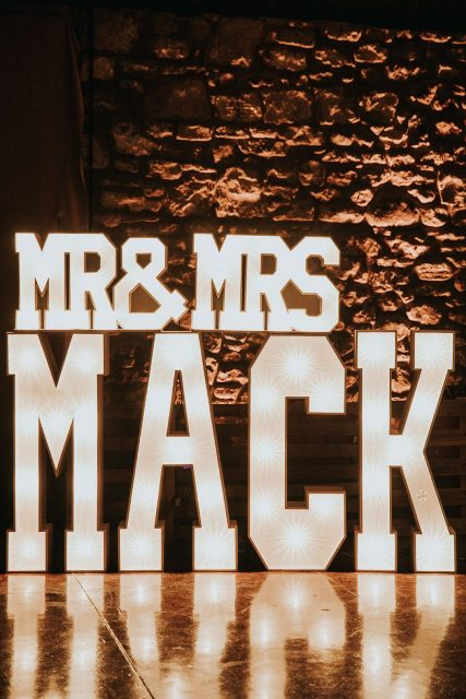 Personalized light up signs are the perfect decor details