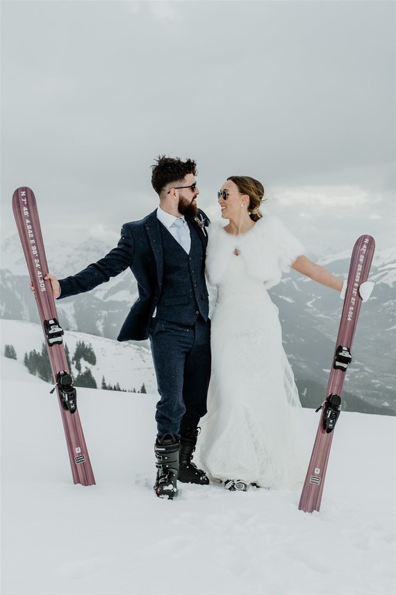 Outdoor Winter Wedding In The Austrian Alps