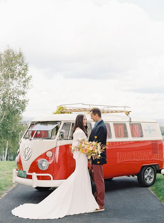 This wedding shoot was inspired by the 70s and all things retro and done with impeccable taste