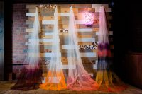 03 Ombre dyed veils were repurposed to decorate the space