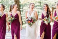 purple is a great color for bridesmaid's dresses