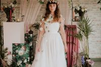 06 you may also see a fantastic floral headpiece and a floral coverup with white blooms