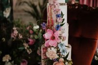 10 The first wedding cake was blush, with sugar crystals and bold blooms