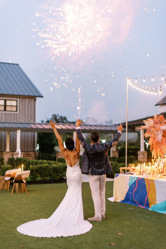 This is how your colorful and fun wedding can look