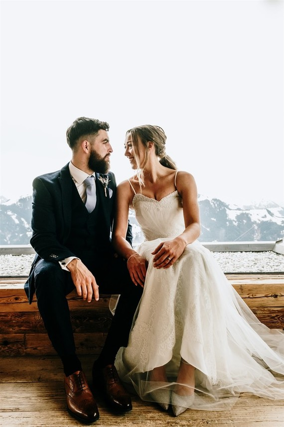 What a gorgeous couple and what a fun and sporty wedding