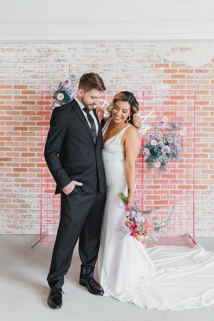 Funky Colorful Wedding Shoot With Pinks