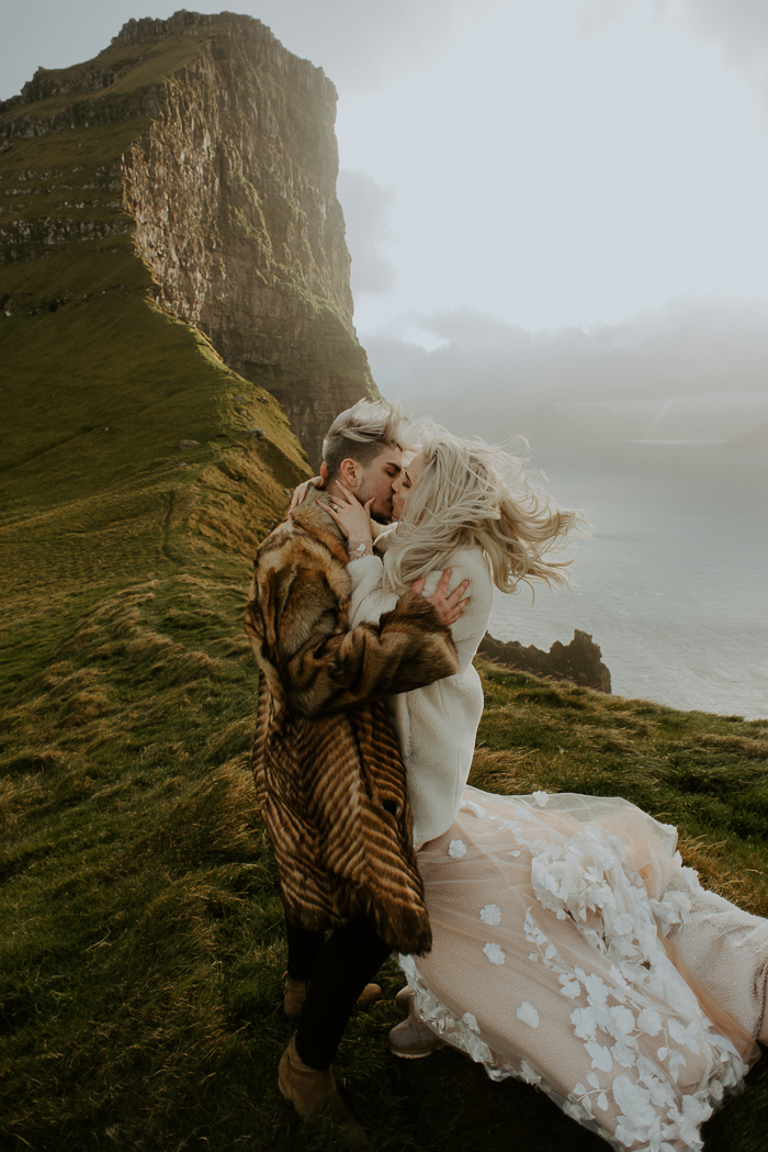 Fashion-Forward Faroe Wedding With Jaw-Dropping Views