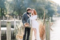 01 This modern fall wedding shoot is bold, chic and full of edgy and cool details