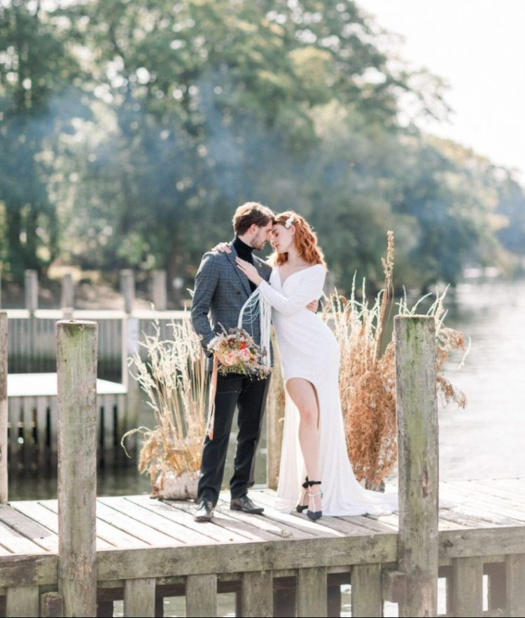 Modern Autumn Wedding Shoot With Rad Outfits
