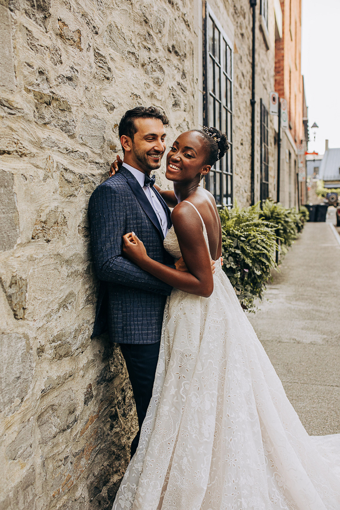 This real life couple became models in this wedding shoot with an all black vendor team