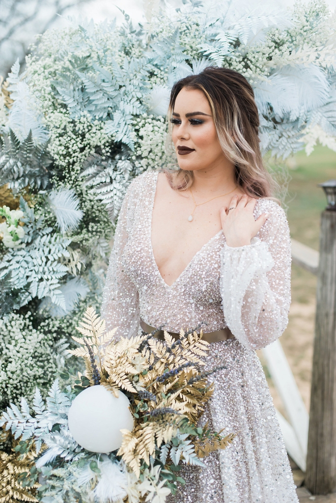 Celestial Witch Winter Wedding Shoot