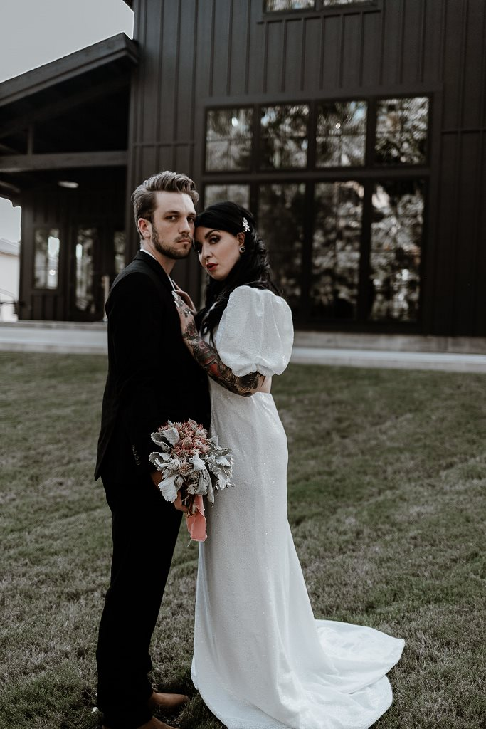 Moody Modern Meets Glam Rock Wedding Shoot