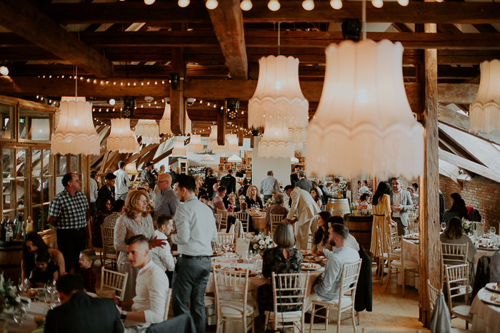 The venue was very cozy and stylish, with boho chic decor