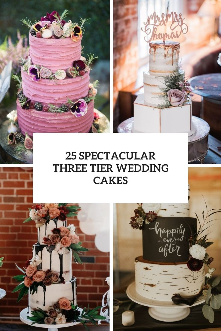spectacular three tier wedding cakes cover