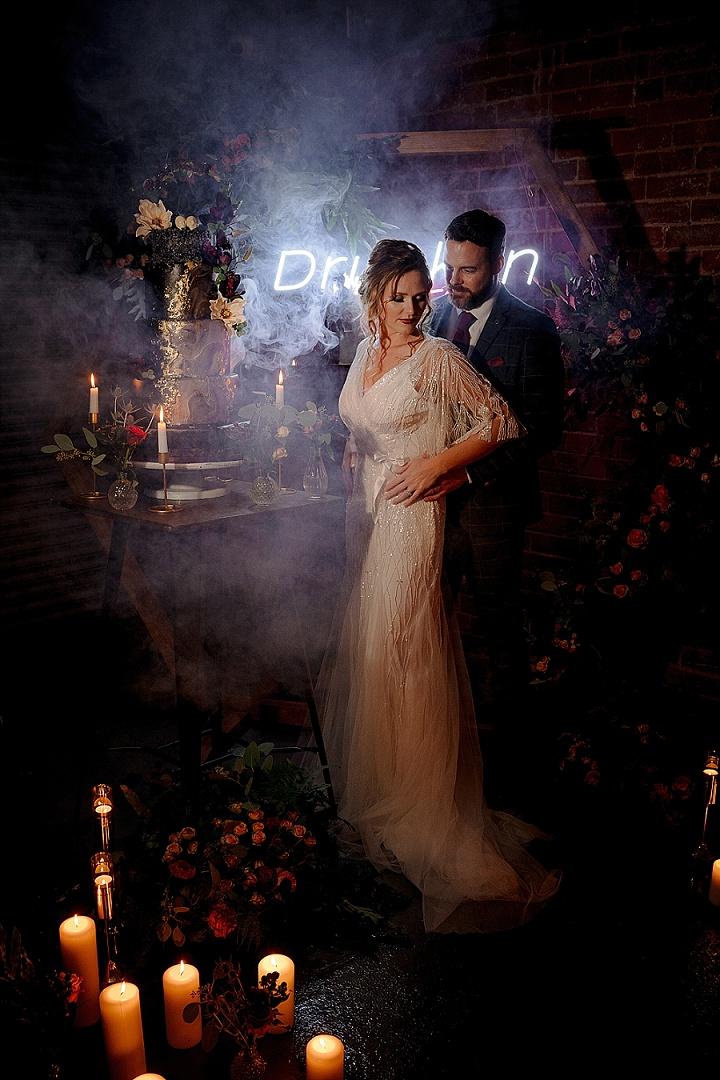 Modern Gothic Romance Wedding Shoot