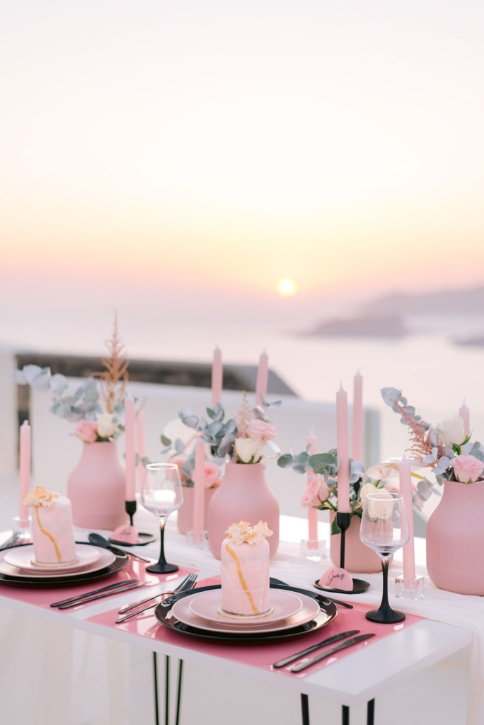 super cute wedding reception table decor