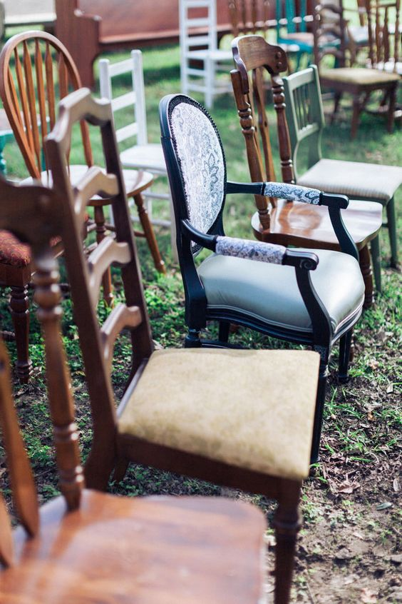 get some chairs for your wedding ceremony space and you won't have to look for rentals