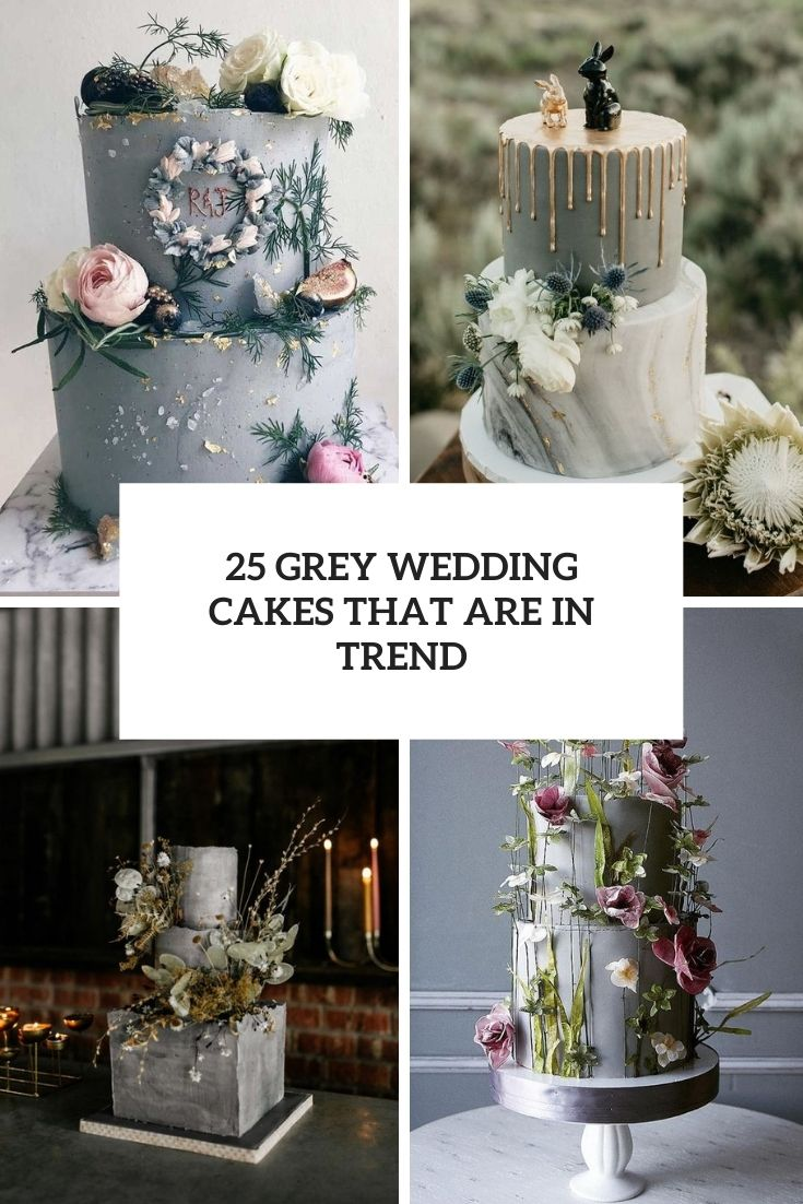 grey wedding cakes that are in trend cover