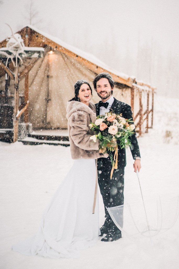 Rustic Winter Wedding In The Telluride Mountains