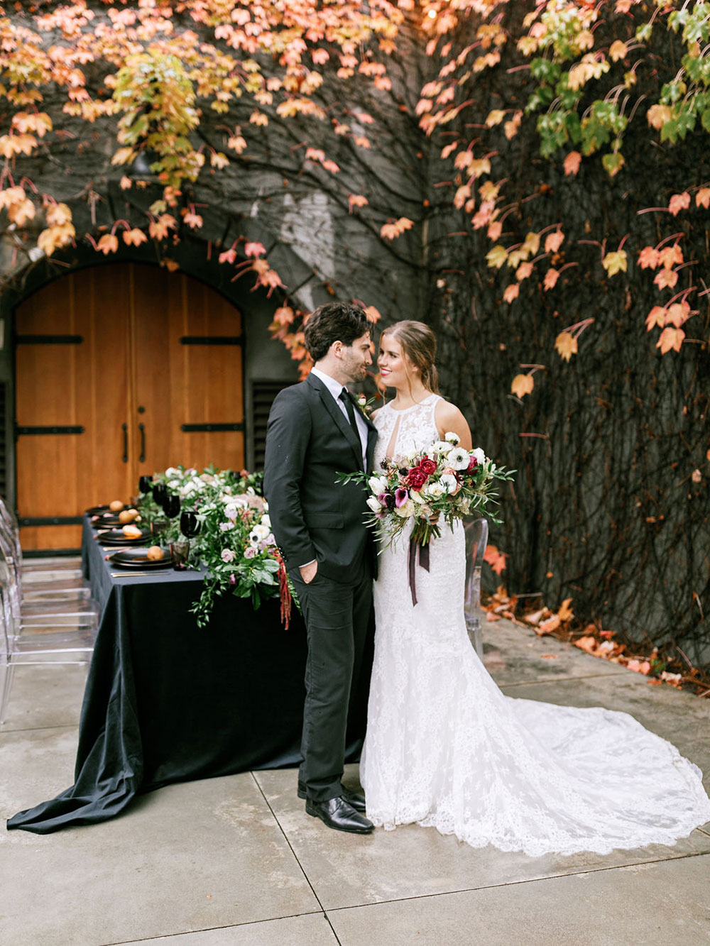 This refined winter wedding shoot shows how beautiful a micro wedding in Sonoma, California can be