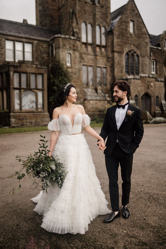 Luxe And Royal Moody Winter Wedding Shoot