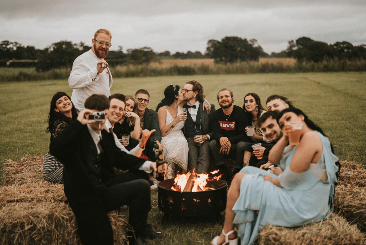 Bonfires were required by the couple to have a great time with their guests