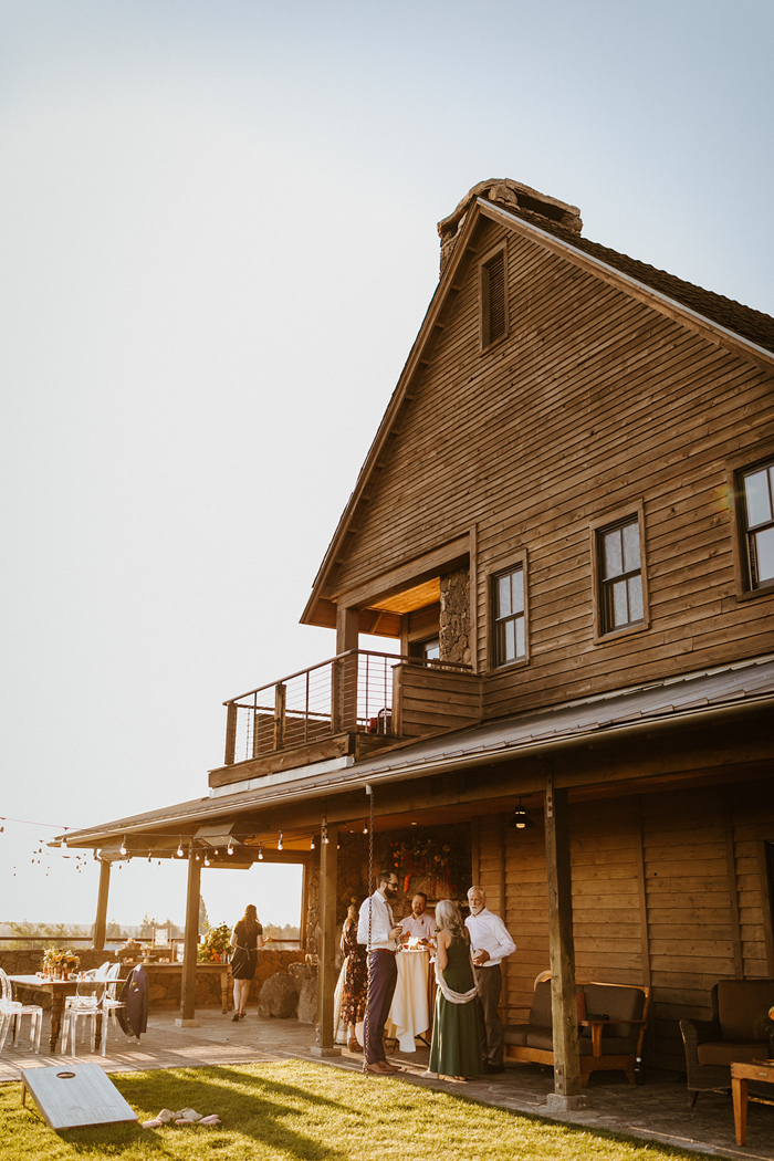 The reception took place at the lodge